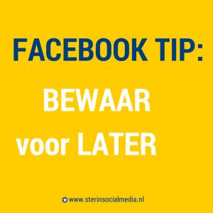 Facebook bewaar voor later mogelijkheid