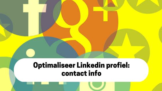 Optimaliseer jouw Linkedin contactinfo