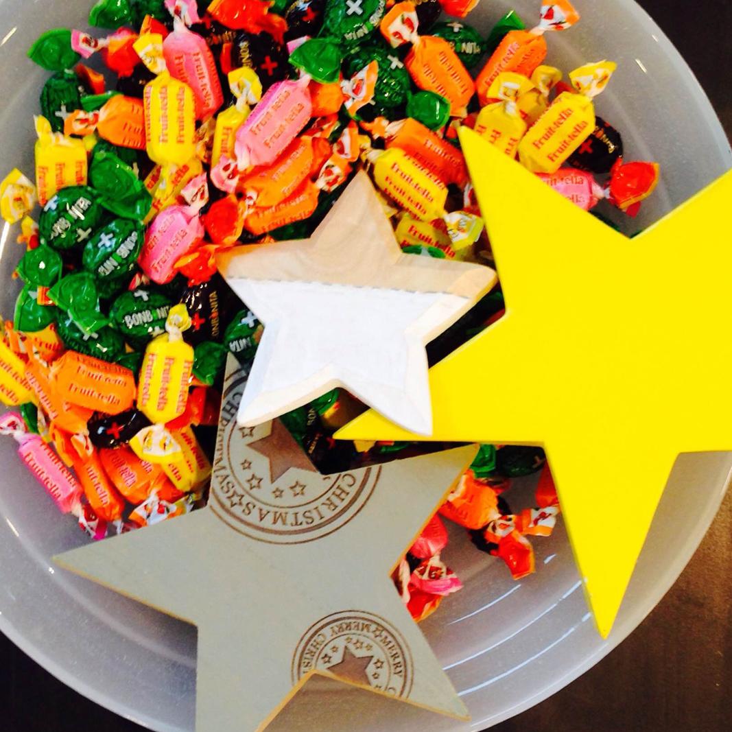 snoepjes met een subtiele ster
