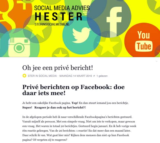 Facebook notities: Een blog als Facebooknotitie of als blog op de website. Wat heeft de voorkeur?